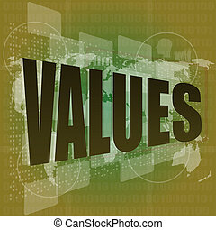 vakues, business, écran, mots, numérique, concept: