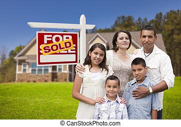 valódi telep becsap, család, aláír, spanyol, otthon, új