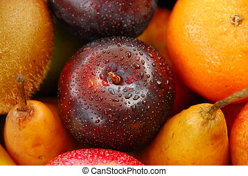 val, av, rå frukt