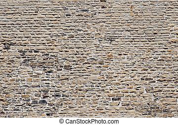 val, -, dávný, dějinný, stone stěna, gótština stavebnictví