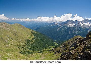Val di Sole, aerial view