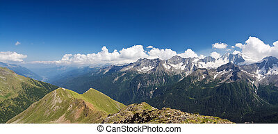 Val di Sole, panoramic view - aerial view of Val di Sole...