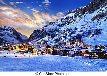 Val d'Isère city - Famous and luxury place of Val d'Isere at...