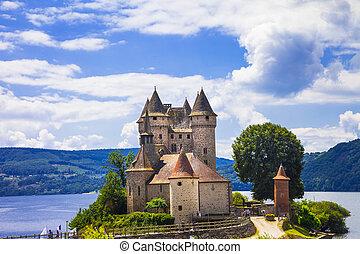 val, francja, rezydencja, średniowieczny, -, zamki, beautifu...