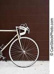 val, vinobraní, jezdit na kole, na, sklon