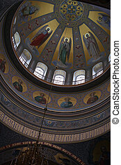 Valaam dome painting - Interior painting of ancient church...