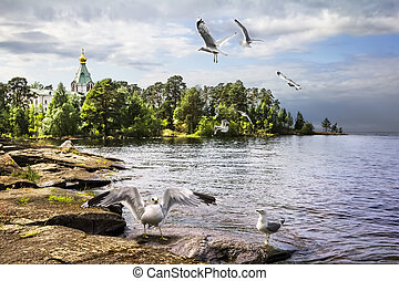 Valaam Island, Lake Ladoga. Nikitsky monastery. Church of St. Nicholas the Wonderworker