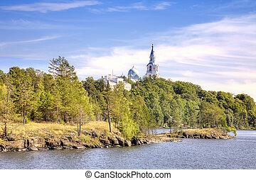 Valaam Island - View of the coast of the island of Valaam...