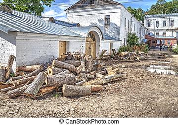 Valaam. The territory of the monastery - The territory of...