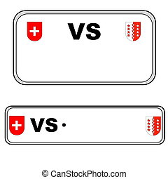 Valais plate number, Switzerland - Valais front and back...