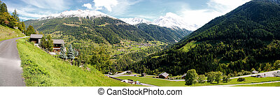 Valais - Typical village from the Valais