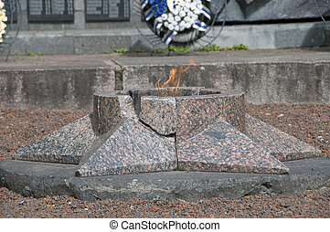 Valdai. Memorial in the park of Heroes, in honor of those killed in World War II