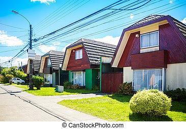valdivia, chileno, casas