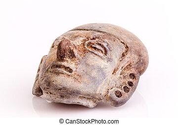 valdivia, cultura, piedra, amuleto