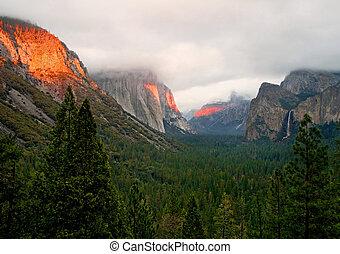 vale, califórnia, yosemite