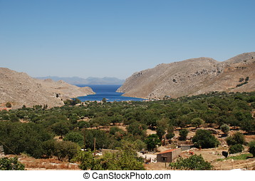 Vale of Pedi, Symi island - Looking down the Vale of Pedi on...