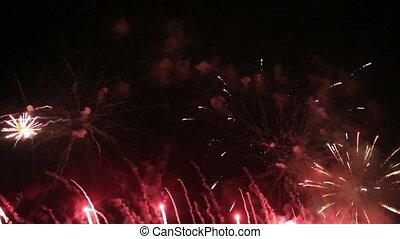 valence, feux artifice, espagne, port