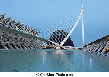 Valencia architectural complex City of Arts and Sciences...