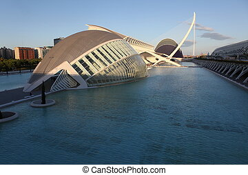 Valencia architectural complex City of Arts and Sciences...