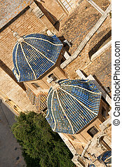 Valencia Cathedral aerial view - Aerial view of Valencia...