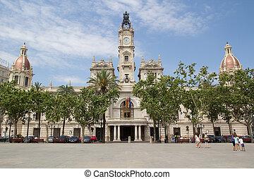 Valencia City Hall - Valencia, Spain City Hall Building in...
