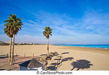 Cielo blu malvarrosa sabbia valencia spiaggia spagna for Spiaggia malvarrosa valencia