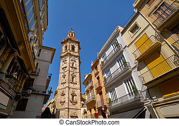 Valencia Santa Catalina church belfry tower from Plaza de la...
