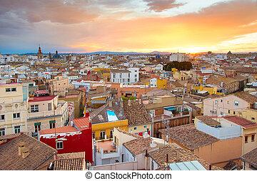 Valencia skyline, Spain