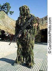 Sniper - VALENCIA, SPAIN - NOVEMBER 28: Spanish Horse...