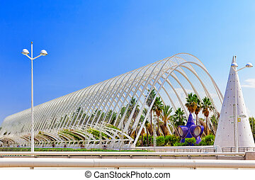 VALENCIA, SPAIN - SEPT 10: Landscaped walk tropic park...