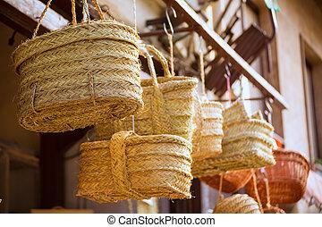 Valencia traditional esparto crafts near Mercado Central - ...