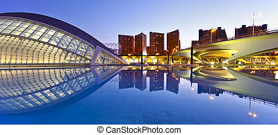 Valencia's City of Arts and Science Museum (Ciudad de las...