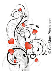 Valenines. - Abstract vector illustration. Suits well for...