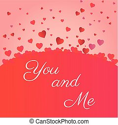 valenties day you and me heart icons