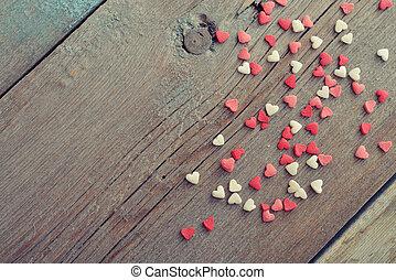 valentijn, dag, concept