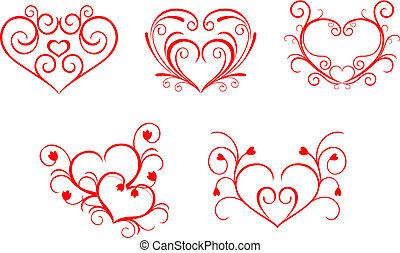 valentijn, hartjes