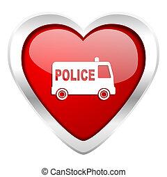valentijn, pictogram, politie