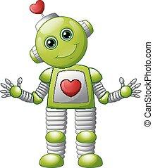 valentijn, robot, spotprent
