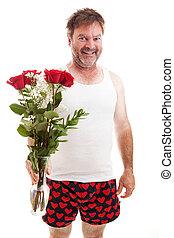 valentijn, u, rozen