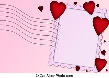 valentijnshart, ingelijst, achtergrond