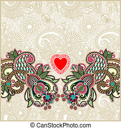 valentin, 日, カード, 心