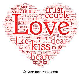 valentin, amour, concept