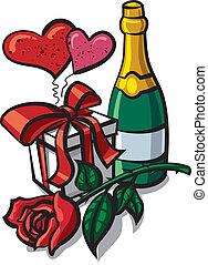 valentin, anniversaire, jour