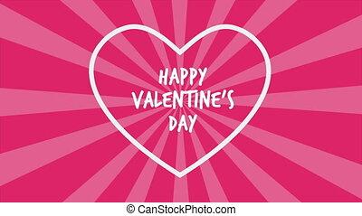 valentin, arrière-plan animation, tournoiement, jour, heureux