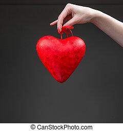 valentin, coeur, boîte