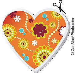 valentin, coeur, fleur, printemps