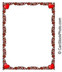 valentin, décoratif, cadre