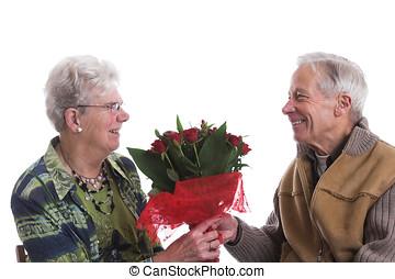 valentin, fleurs