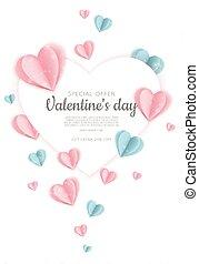 valentin, fond, s, hearts., jour, cœurs