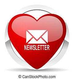 valentin, icône, newsletter